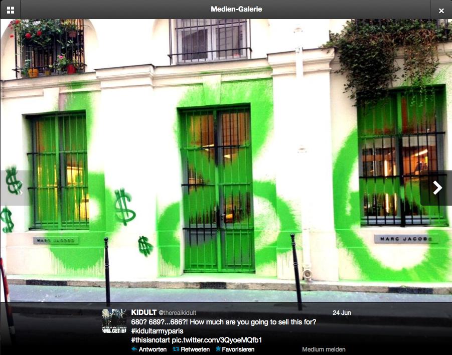Runde 2 des Battles zwischen Graffiti-Künstler Kidult und Designer Marc Jacobs
