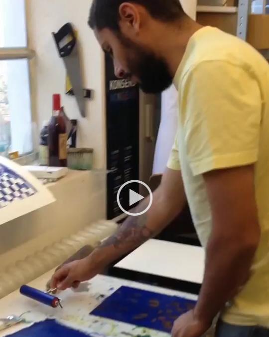 ART AVENUE Brazil: Thiago Goms live printing