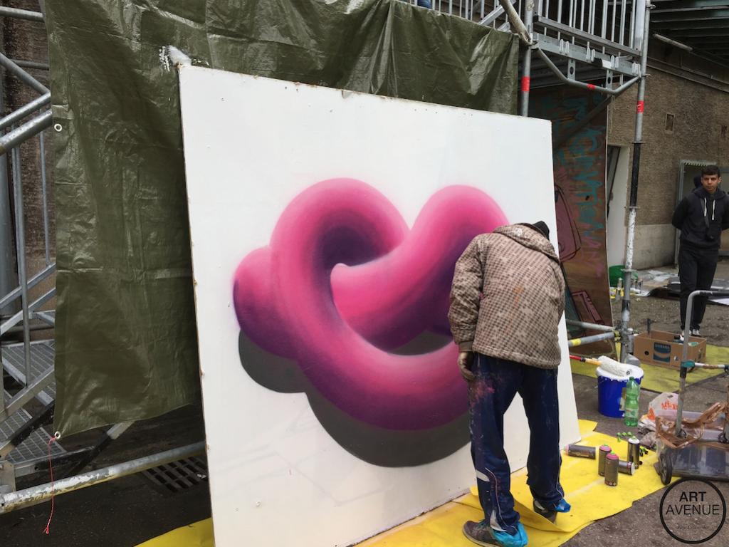 ART AVENUE Stroke 2015 HN RX Live Painting
