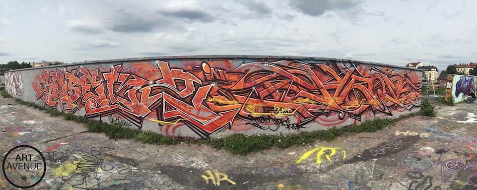 Oldschoolgraffiti am Viehhof